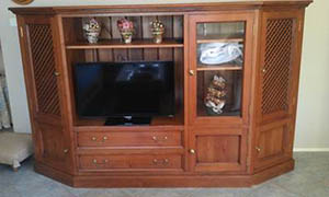 TV cabinet before alteration