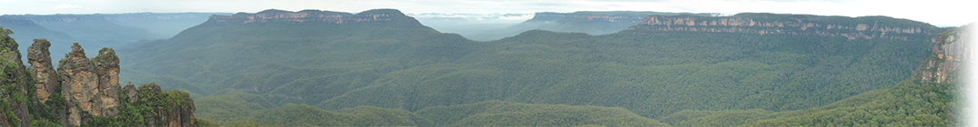Blue mountains at Katoomba